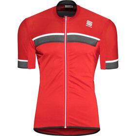 Sportful Pista SS Jersey Men red/anthracite/white